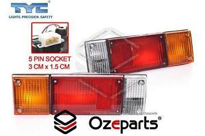 Pair LH+RH Tail Light Lamp For Nissan Navara D21 D22 D40 D23 NP300 Tray Cab