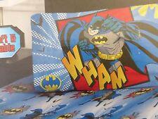 2 pc Batman Micro Mink Twin Fitted & Pillowcase Set NIP
