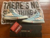 Converse CT Undefeated HI Size 9.5 White Blue Raw Dogs UNDFTD