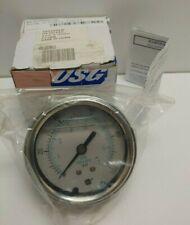 New Old Stock Usg 25 0 100 Psi 14 Filled Pressure Gauge Amk165305lg 9767215