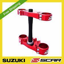 TRIPLE CLAMPS SUZUKI RMZ 250 450 RM-Z450 RM-Z 2013 13 2014 2015 2016 RED SCAR