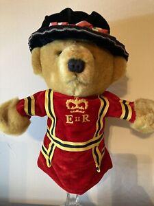 "Merrythought Ironbridge Shropshire UK Puppet Royal Guard Uniform Bear 12"""