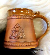 Celtic Trinity Mug Tankard 20oz Handmade Medieval Ceramic Pottery Cup
