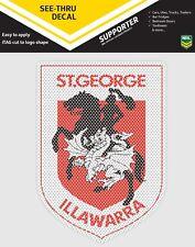 62540 ST GEORGE DRAGONS NRL CLUB LOGO SEE THRU CAR WINDOW STICKER DECAL