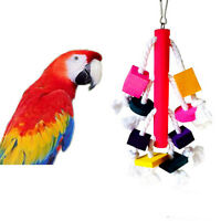 1X Pet Birds Parrot Toy Cages African Grey Cockatoo Parakeet Chew HAUULKRDFU