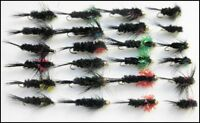 Montana Trout Flies, 24 Pack, Mixed colours & designs, size 10/12, Fly fishing