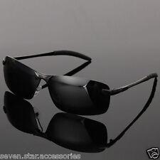 """""""3 für 2"""" Polarisiert Sonnenbrille Radbrille Sportbrille Brille Schwarz Aviator"""