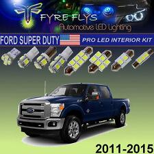 9 Pcs Xenon White LED Interior Lights Package Pro Kit for Ford Super Duty