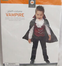 New Vampire Halloween Costume Cape Shirt Vest Youth Boys Girls Size Medium 6 8