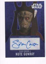 2016 Star Wars Evolution autograph card Silas Carson purple 14/25