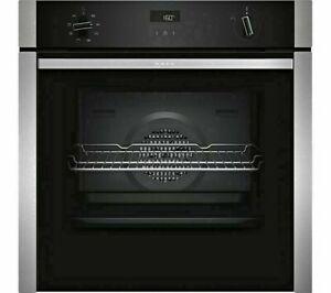 NEFF N50 B4ACF1AN0B Slide&Hide Stainless Steel Electric Oven + 2 Year Warranty