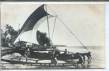 Ceylon Postcard - Fisching Boats - Ceylan Sri Lanka