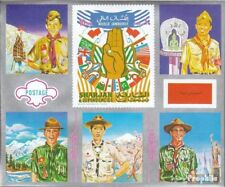 Sharjah block103 mint never hinged mnh 1971 Scouts America and Asia