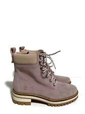 New Timberland Courmayeur Valley Light Purple Suede Boots A2338 Women Size 9