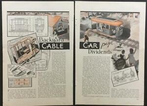 Backyard Cable Car 1933 HowTo build PLANS San Francisco Chicago Train Trolley