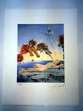 Salvador Dali Litografia 50 x 65 Bfk Rives Timbro a secco Firmata a Matita D075