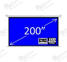 """New 200"""" Electric HD Écran de projection projecteur Home Cinema 16:9 Gris"""