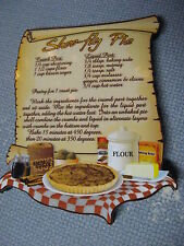 Amish Country Complete Shoo Fly Pie Recipe Refrigerator Stove Magnet