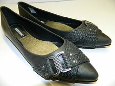 Rocket Dog Womens Shoes Size 6 Black Buckle Detail RRP £40 Bargain £16.99