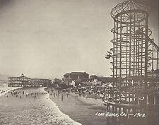 "LONG BEACH PIKE Early ROLLER COASTER Photo Print 862 11"" x 14"""