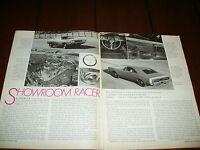 1969 DODGE CHARGER - SHOWROOM RACE CAR - ***ORIGINAL ARTICLE***