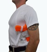 Holster Shirt for Glock Black or White Sizes S thru 5XL Right Handed USA Made