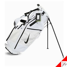 "Nike 2020 Air Hybrid Golf Stand Caddie Cart Bag 10"" 14Way 6.4lb White CV1514-101"