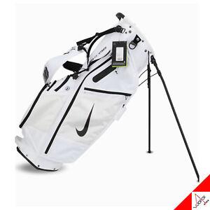 """Nike 2020 Air Hybrid Golf Stand Caddie Cart Bag 10"""" 14Way 6.4lb White CV1514-101"""