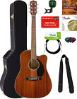 Fender CD-60SCE Dreadnought Acoustic-Electric Guitar - All Mahogany w/ Hard Case for sale