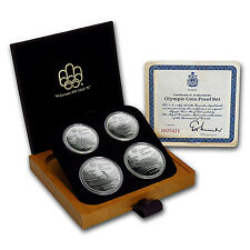 1976 Canada 4-Coin Silver Montreal Olympic Games Proof Set - SKU #77146