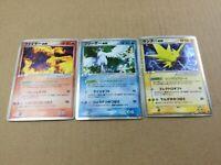 Pokemon Card Moltres Articuno Zapdos ex Holo Players Club Promo Nintendo Japan