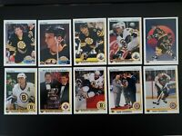 1990-91 Upper Deck UD Boston Bruins Team Set of 27 Hockey Cards Walz Hodge RC