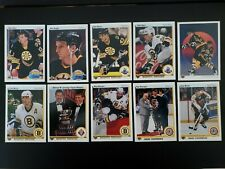 1990-91 Upper Deck UD Boston Bruins Team Set of 27 Hockey Cards Walz Hodge RC
