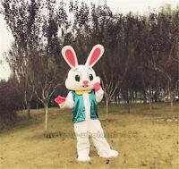 Advertising Easter Bunny Mascot Costume Rabbit Cartoon Fancy Dress Adult Size!!!