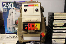 Vintage 1978 Type 2 Mego Toy 2-Xl Talking Robot W/10 8 Track Tapes Booklets Card
