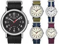 Timex Weekender | Nylon Slip-Thru Strap White Dial | Casual Unisex Watch
