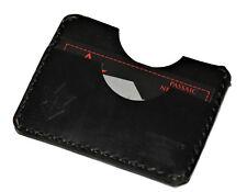 Handmade PARVUS Minimalist Wallet Black Chromexcel Leather Money Band