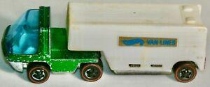 HOT WHEELS HEAVYWEIGHTS #6455 GREEN CAB WHITE MOVING VAN MADE IN HONG KONG 1970