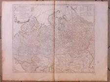 Carte Ancienne Russie Russia  Old Map Gravure Partie Occidentale de l'Empire
