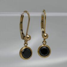 SCHLICHT & BRILLANT ● Zirkonia in schwarz & Kugel Ohrringe ygf 14k Gold 585