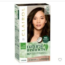 NIB Clairol Natural Instincts Brass Free 5C Med Brown Hair Color Dye Home Salon