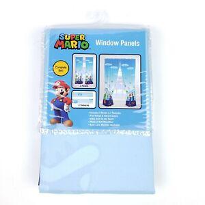 "Super Mario Yoshi Bedroom Window Curtain Panels With Tie-Backs 82"" x 63"""