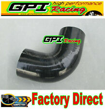 """GPI 135 Degree Bend Elbow Silicone Coupler Hose 2"""" 51mm Intake Turbo Pipe BLK"""