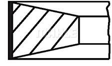 MAHLE Piston Ring Kit For ALFA ROMEO Ar 6 FIAT Croma IVECO LANCIA RENAULT 84-02