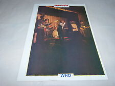 THE WHO - Mini poster couleurs   !!!!! JUKEBOX !!!!!!!!!!