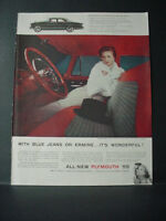 1955 Plymouth Belvedere 4-Door Sedan Interior Wonderful Vintage Print Ad 10816