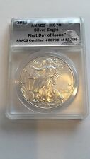 2012 $1 Silver Eagle MS 70 First Day Of Issue