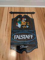 Rare Falstaff Beer Sign Vintage Stein Draft Bar Advertisment 21x12