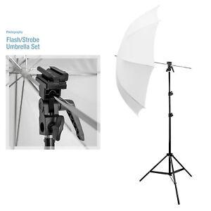 "33"" Umbrella Photography Kit Flash 7ft Light Stand Flash Bracket B Photo Studio"