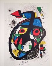 JOAN MIRO HAND SIGNED SIGNATURE * MASK * LITHOGRAPH W/ C.O.A.